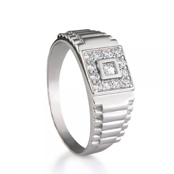 Перстень серебряный с фианитами 2388.1