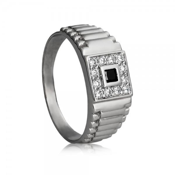 Перстень серебряный с фианитами 2388.2