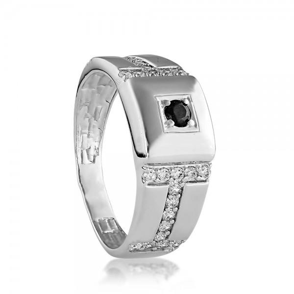 Перстень серебряный с фианитами 2744.2
