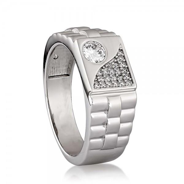 Перстень серебряный с фианитами 2750.1