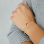 Золотой браслет с пластиной 1ББ011п