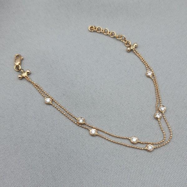 Браслет золотой с бриллиантами 3_Б 21.15