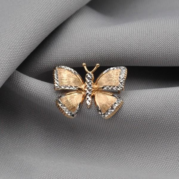 Брошка золотая Бабочка 1А500138