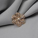 Брошка-подвеска золотая Цветок 1А501021