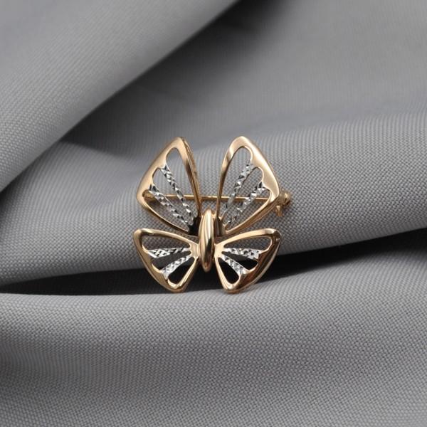 Брошка золотая Бабочка 1А501374