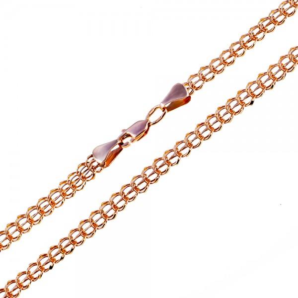 Золотой браслет плетение кардинал 1БК051