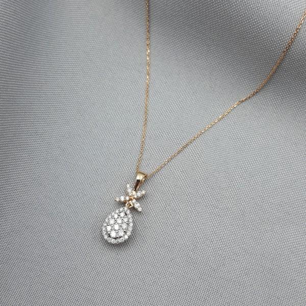 Колье золотое с бриллиантами 3_Л 21.4