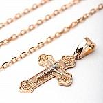 Крестик золотой 1х240