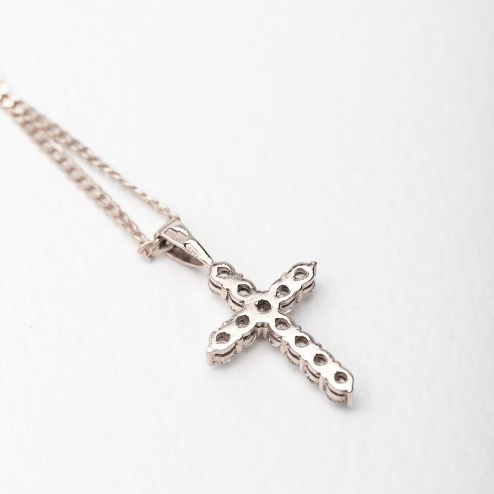 Крестик золотой с бриллиантами 3Х229-2Дб