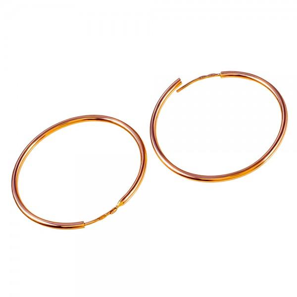 Серьги кольца золотые  30 мм 1С001/30