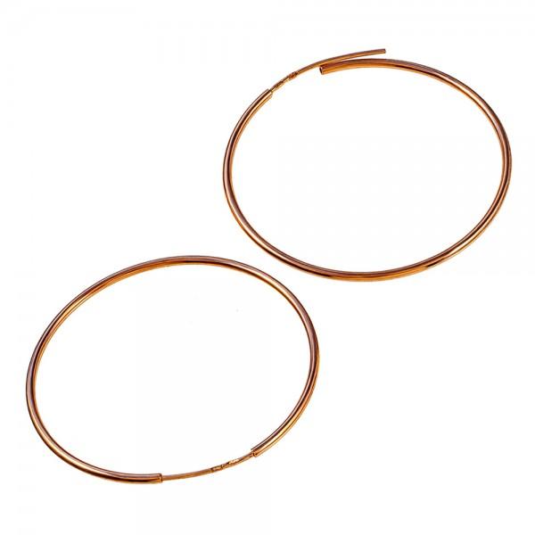 Серьги кольца золотые 50 мм 1С001/50
