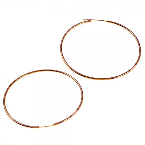 Серьги кольца золотые 70 мм 1С001/70