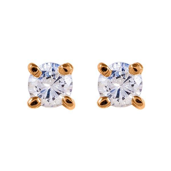 Серьги-пусеты золотые с бриллиантами 3С314д