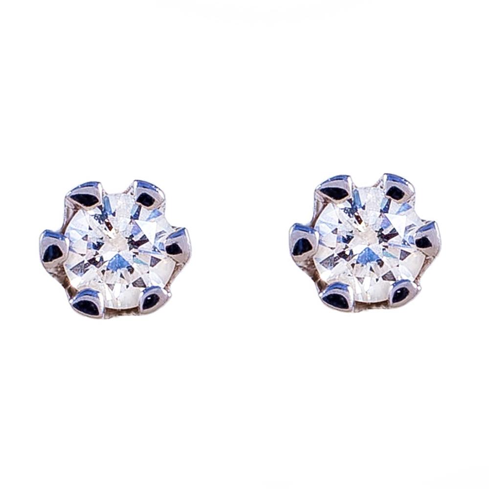 Серьги-пуcеты золотые с бриллиантами 3С027д