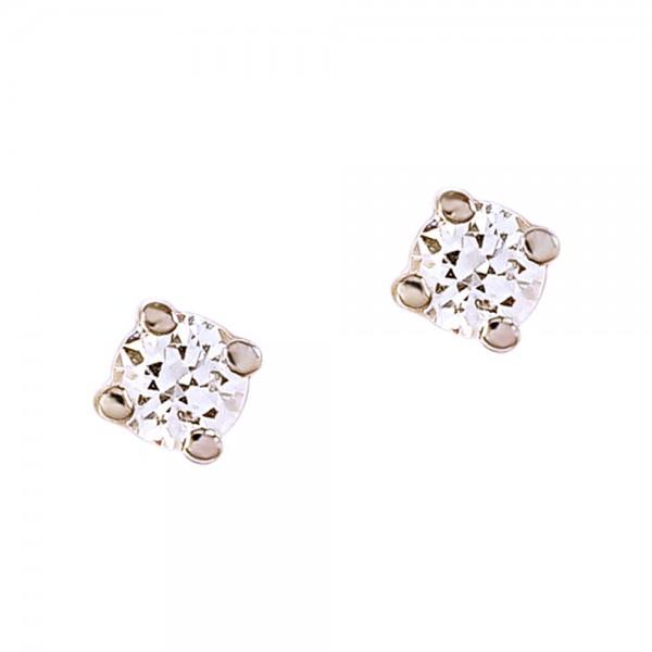 Серьги-пусеты золотые с бриллиантом 3С061д