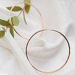Серьги кольца золотые 55 мм 1С001/55