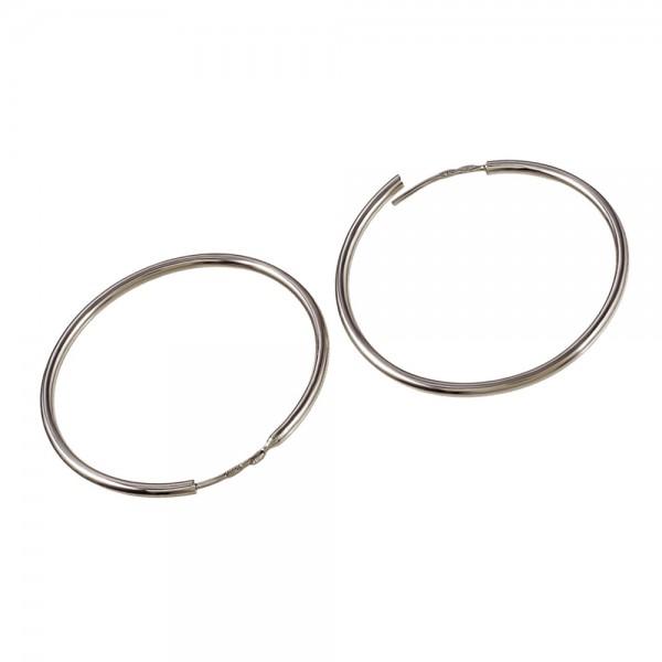 Серьги серебряные кольца 30 мм 2С001/30