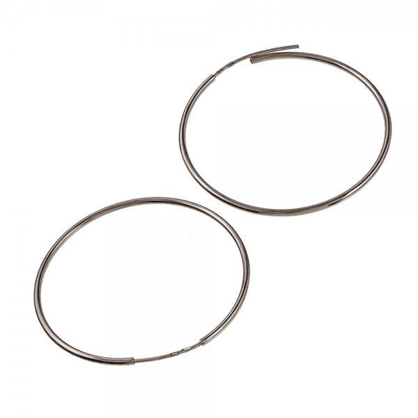 Серьги серебряные кольца 50 мм 2С001/50