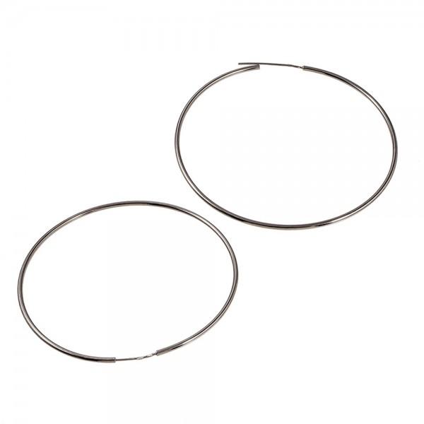 Серьги серебряные кольца 70 мм 2С001/70