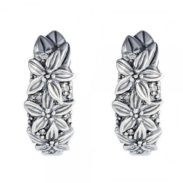 Серьги серебряные с фианитами 2С068