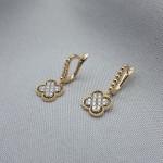 Серьги золотые с бриллиантами 3_С 21.1