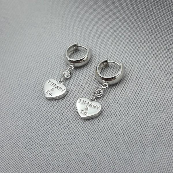 Серьги-конго золотые с бриллиантами 3_С 21.13б