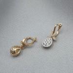 Серьги золотые с бриллиантами 3_С 21.4
