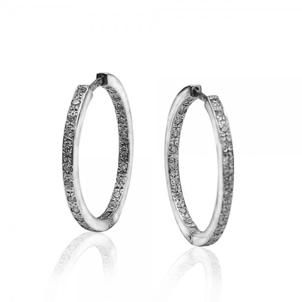 Серьги-конго серебряные с фианитами 2_5000111-р