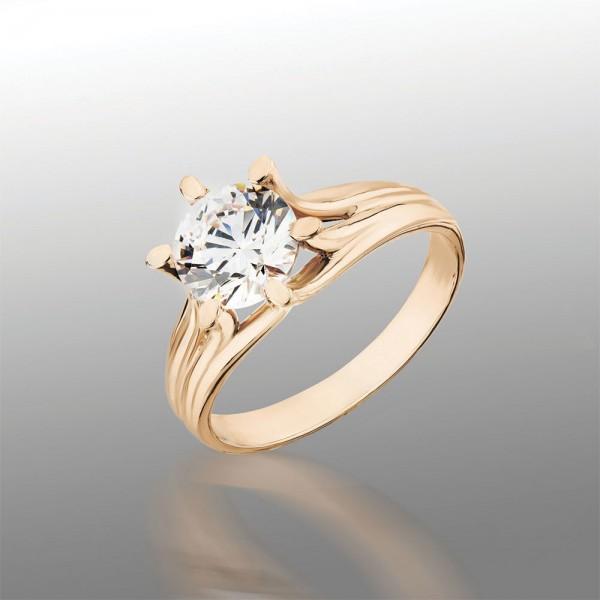 Кольцо золотое с фианитами 102-0471