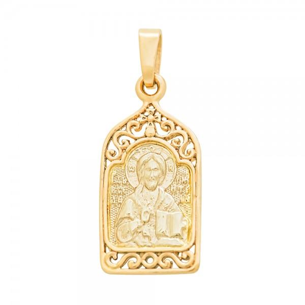 Ладанка золотая Иисус Христос Вседержитель 107-1045л