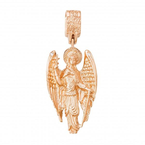 Подвеска золотая с фианитами Ангел Хранитель 107-1053