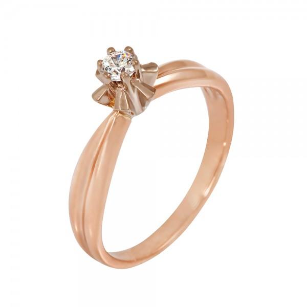 Кольцо золотое с фианитом 102-0129