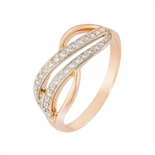 Кольцо золотое с фианитами 102-0132