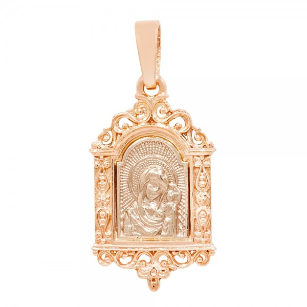 Ладанка золотая Матерь Божья Казанская 107-1013