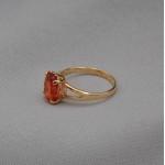 Кольцо золотое с сапфиром падпараджа 1К152СП