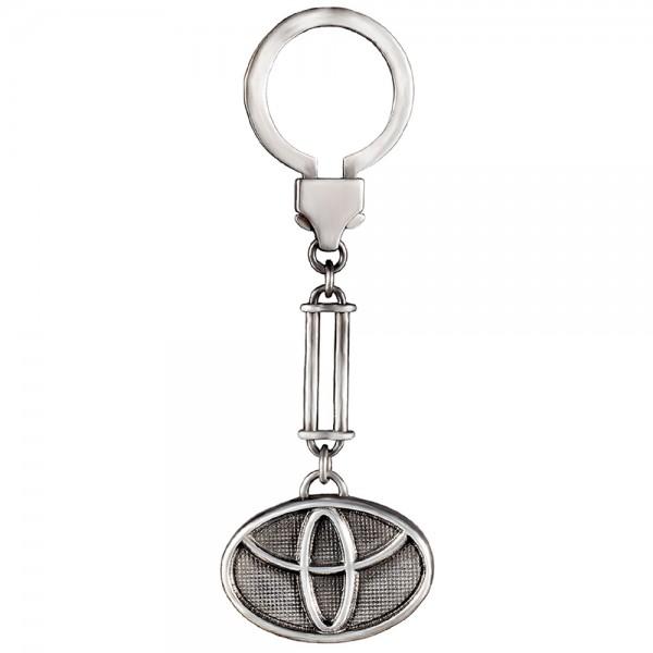 Брелок серебряный с логотипом TOYOTA 2Бр002