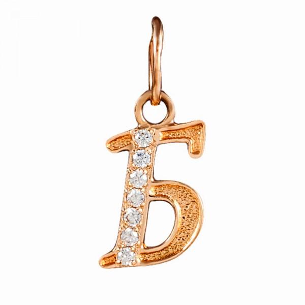 Подвеска золотая буква Б 1П015б Б