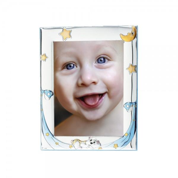 Детская серебряная рамка для фото  4128C-C 10*15 см