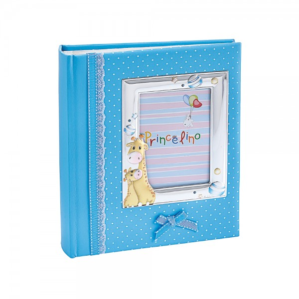 Детсикй альбом для фото с серебряной рамкой 4A129M-C