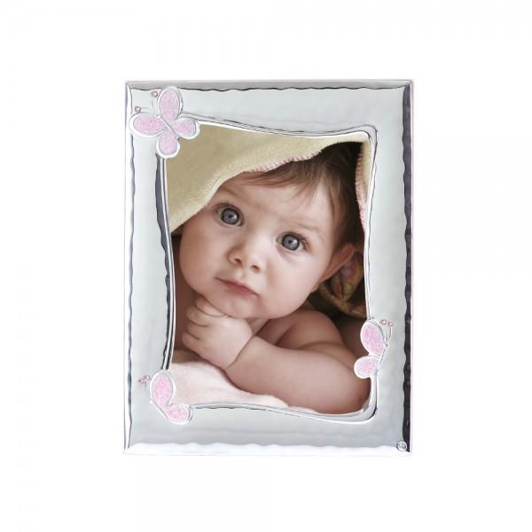 Детская серебряная рамка для фото  4125B-R 13*18 см