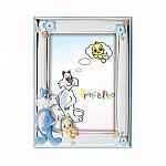 Детская серебряная рамка для фото 4S132-1C 9*13