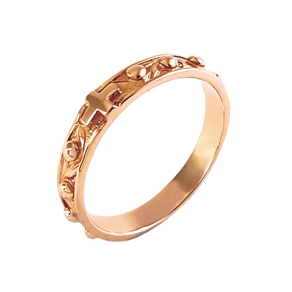 Кольцо золотое католическое Розарий 1К031