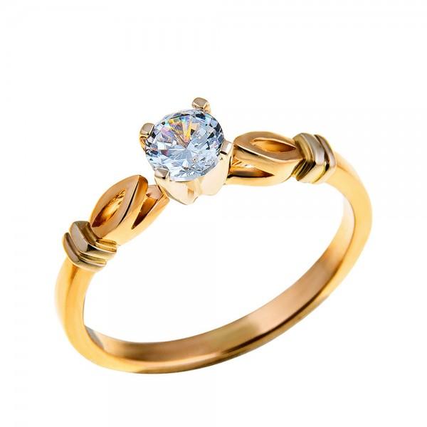Кольцо золотое с бриллиантом 3К050д