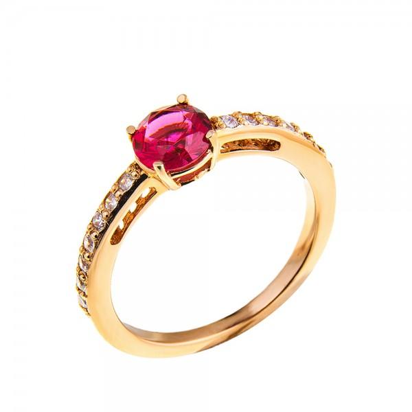 Кольцо золотое с фианитом 1К053Рб