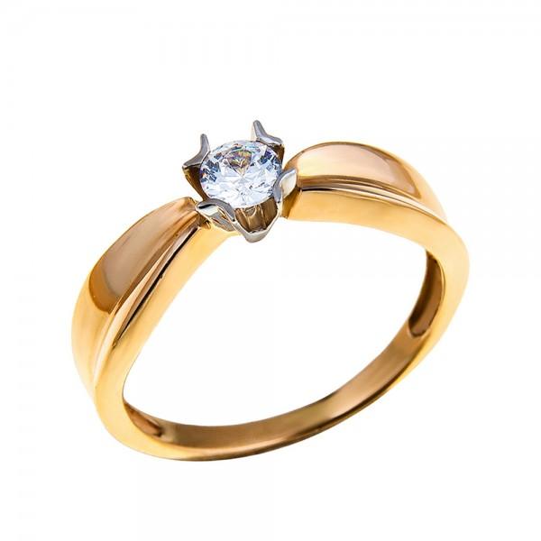 Кольцо золотое с бриллиантом 3К055д