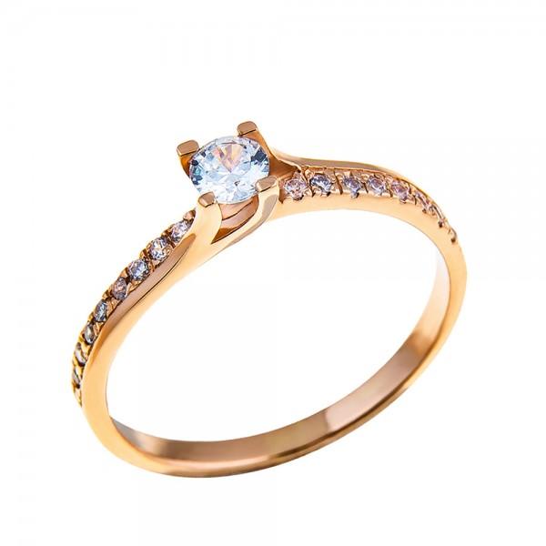 Кольцо золотое с бриллиантом 3К060д