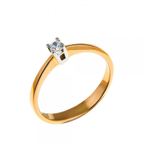 Кольцо золотое с бриллиантом 3К061д