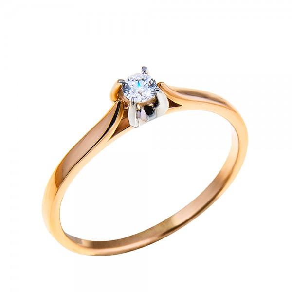 Кольцо золотое с бриллиантом 3К062/1Д