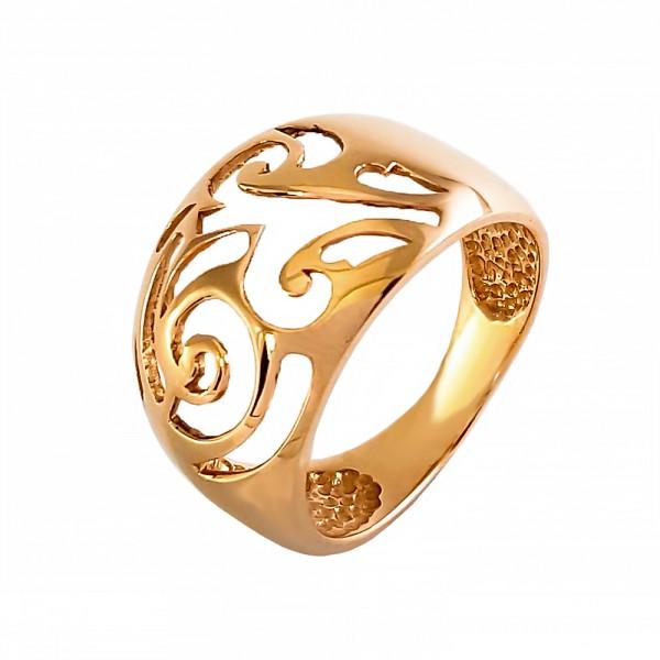Кольцо золотое фигурное 1К067