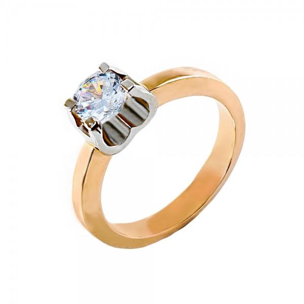 Кольцо золотое с бриллиантом 3К109д